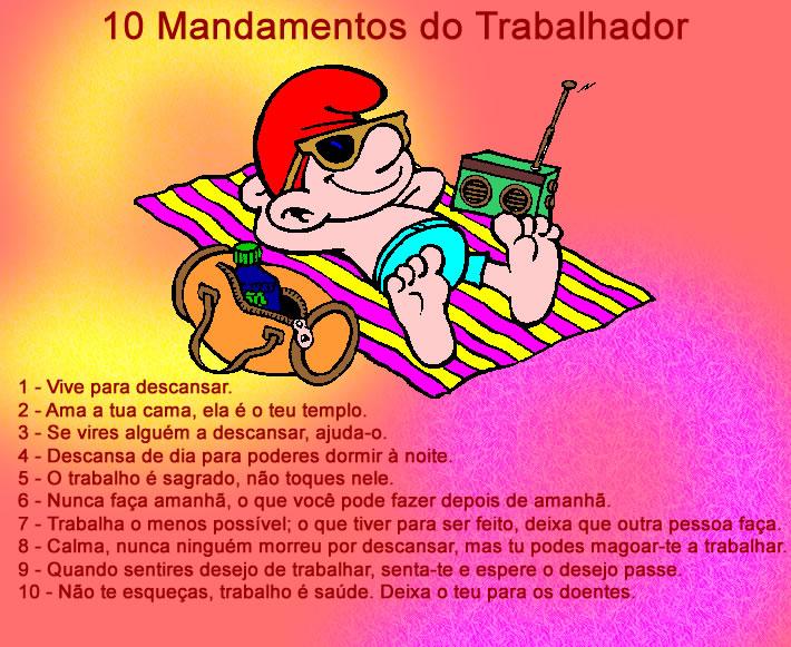 10 mandamentos do Trabalhador