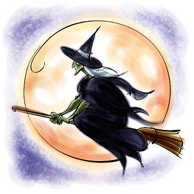 Bruxa a voar ...