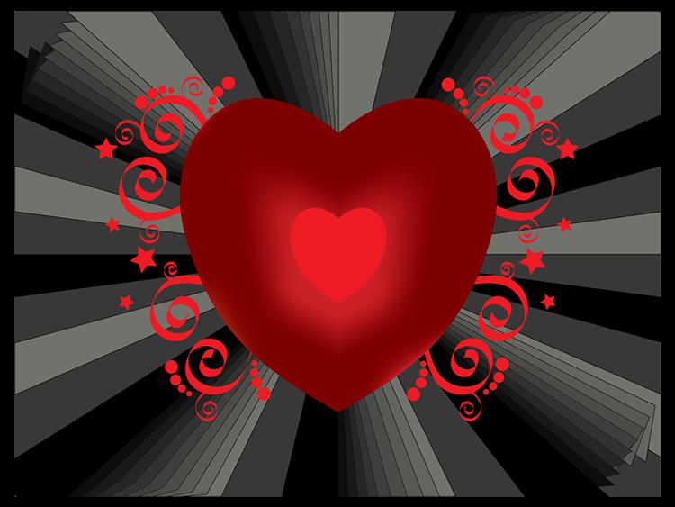 Coração radiante