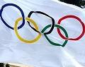 Bandeira Jogos Olímpicos - Postal de Desporto