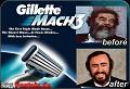 Gillette... o melhor para o Saddam - Postal de Publicidade