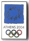 Pin Athens 2004 - Postal de Desporto