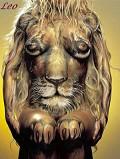 Leão - Postal de Zodíaco