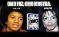 Omo - Michael Jackson - Postal de Publicidade
