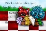 A verdadeira amizade - Postal de Amizade