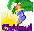 No Sapatinho... - Postal de Natal