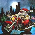 Pai Natal Motoqueiro - Postal de Natal