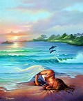 Oceano - Postal de Arte