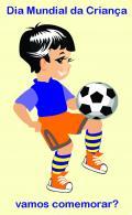 Criança no Futebol - Postal de Datas Festivas