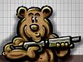 Grafitti urso - Postal de Arte