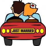 Just Married - Postal de Casamento
