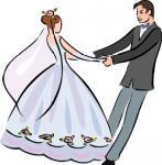 A dança - Postal de Casamento