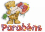 Ursinho de Parabéns - Postal de Parabéns