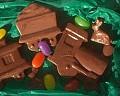 Comboio de Chocolate - Postal de Páscoa