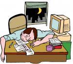 Trabalhar... Cansa! - Postal de Trabalho