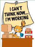 Trabalhar ou pensar? - Postal de Trabalho