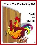 Obrigado - Postal de Convites