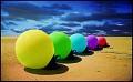 Bóias coloridas - Postal de Paisagens
