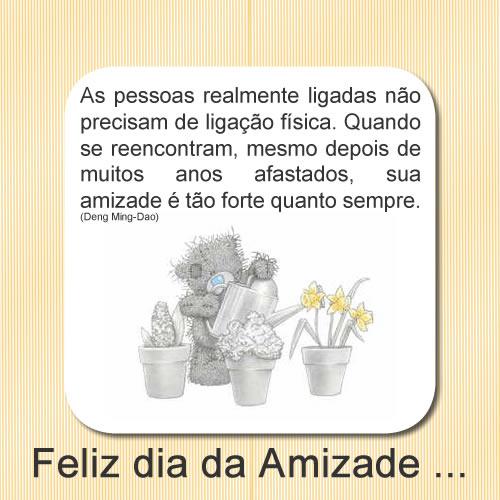 Feliz Dia da Amizade...