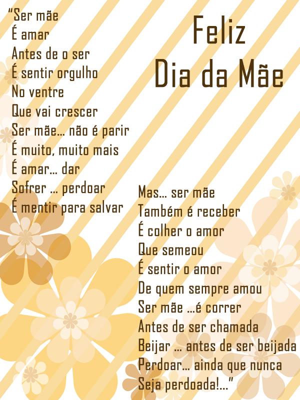 Poema Dia da Mãe